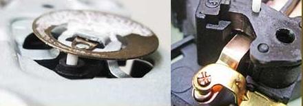 Биметаллическая пластина и керамический шток