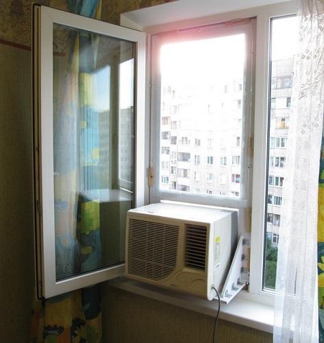Кондиционер в пластиковом окне