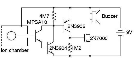 Схема устройства с двухпроводным детектором