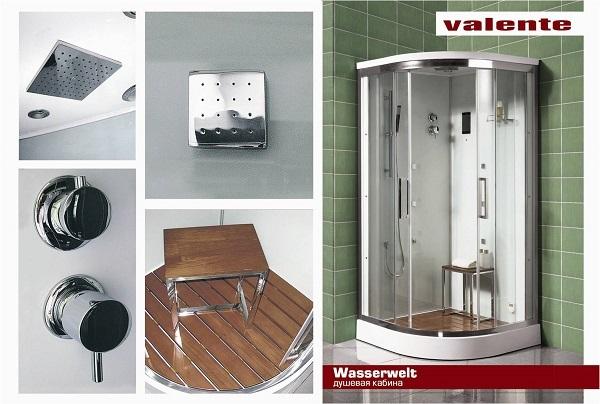 """Душевая кабинка Valente """"Wasserwelt"""""""