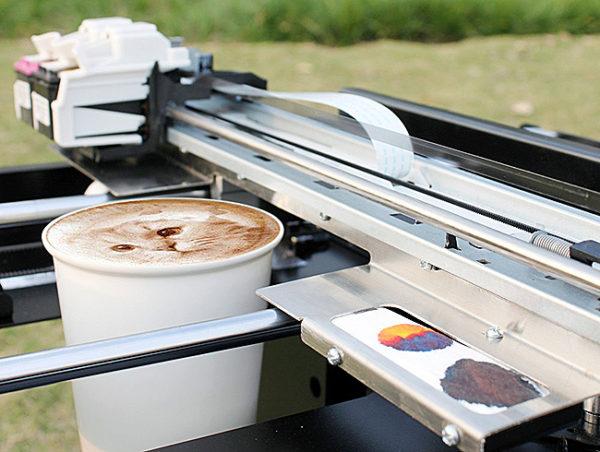 Печать на пенке капучино
