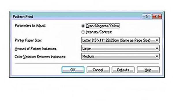 выбор нужных параметров печати