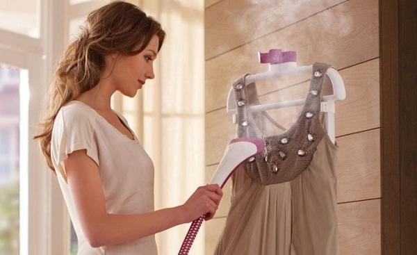 Обработка одежды паром