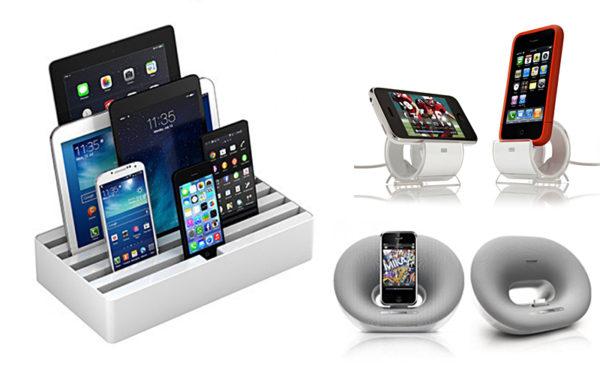 Док станции для подзарядки мобильных устройств