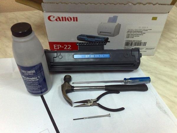 Инструменты для заправки картриджа