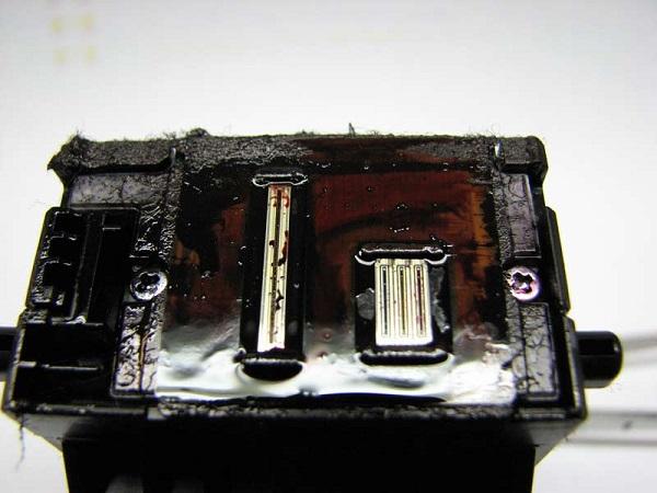Загрязнение печатающей головки