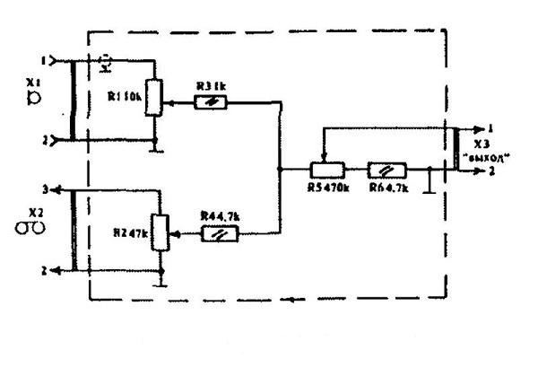 Электросхема устройства