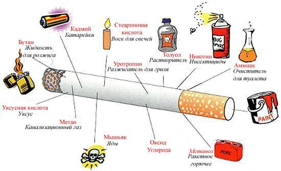 Составляющие сигаретного дыма