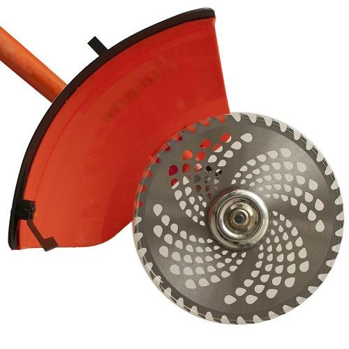 Бензокоса с металлическим диском