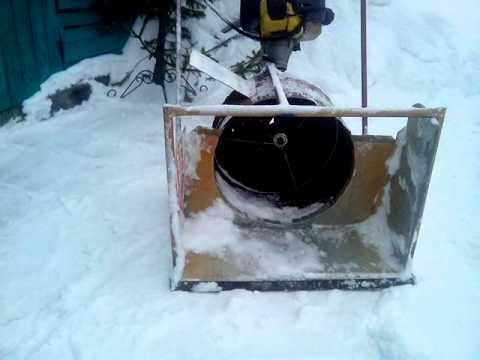 Снегоуборщик из мотокосы