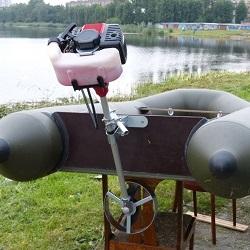 Как из триммера сделать мотор для лодки из