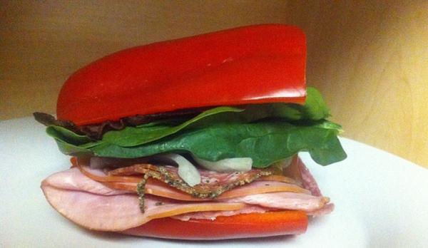 Сэндвич с болгарским перцем