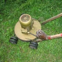 Как собрать самодельную газонокосилку