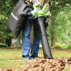 Пылесос-воздуходувка для уборки листьев и мусора
