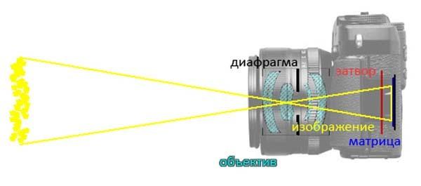 Принцип работы фотоаппарата