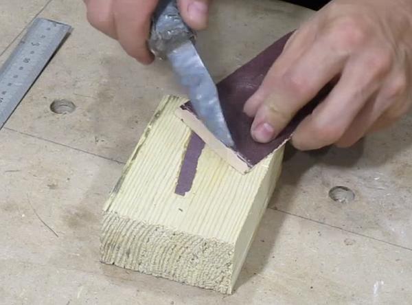 Удаление остатков ножом