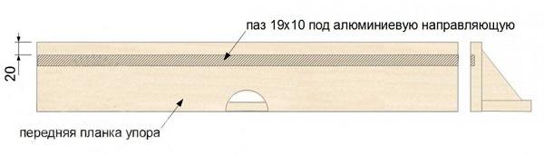 Место врезки С-образного профиля