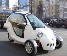 Новый трехколесный автомобиль