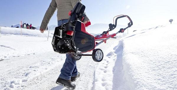 Переноска снегоуборщика