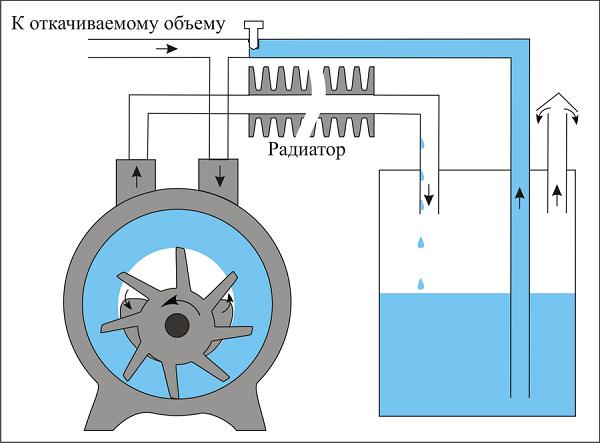 Принцип работы водокольцевого насоса