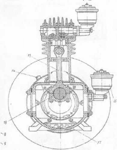 Схема смазки поршневого компрессора