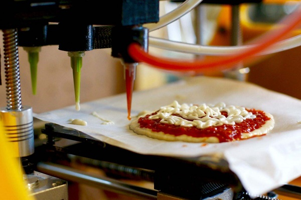 Пицца на 3д принтере