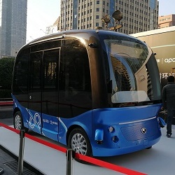 Новый беспилотный автобус скоро появится на дорогах Китая и Японии