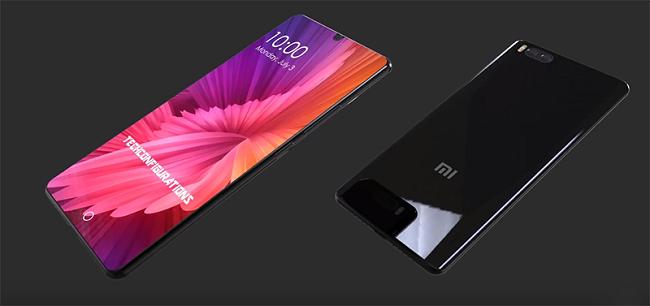 Xiaomi mi 8 на сером фоне