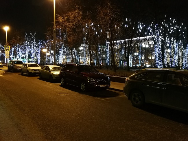 Пример фотографии в ночное время
