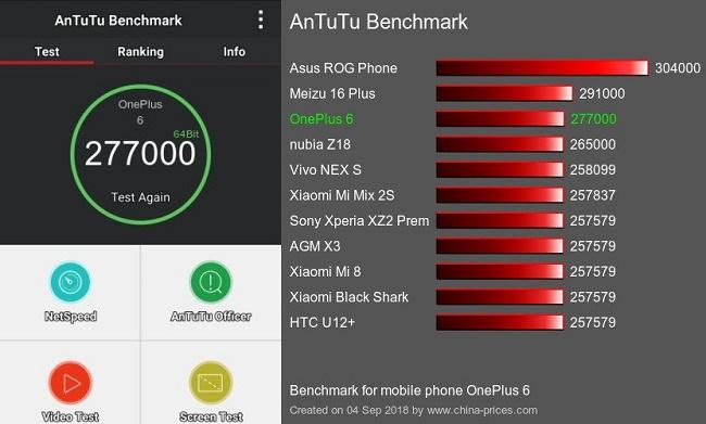 OnePlus 6 антуту