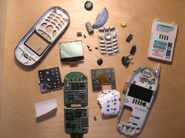 Мобильный телефон внутри
