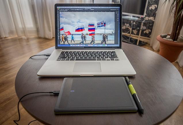 Ноутбук и графический планшет