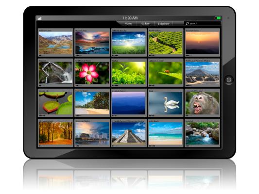 Фотографии на планшете