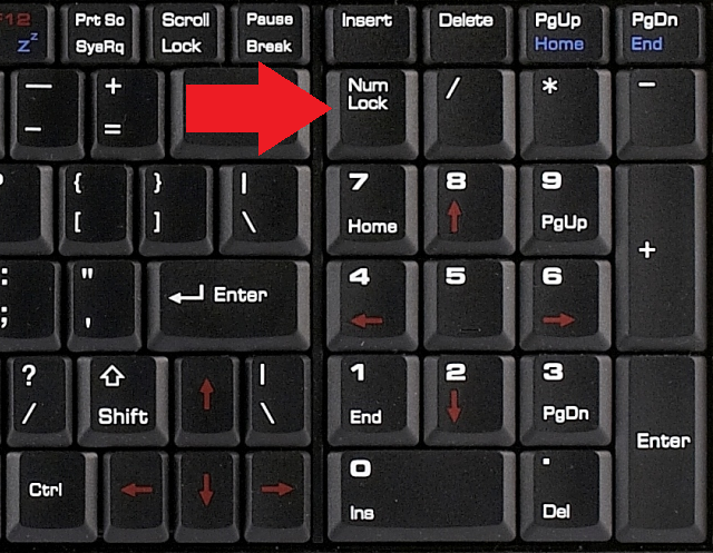кнопка NumLock