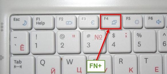 Fn+внешний монитор