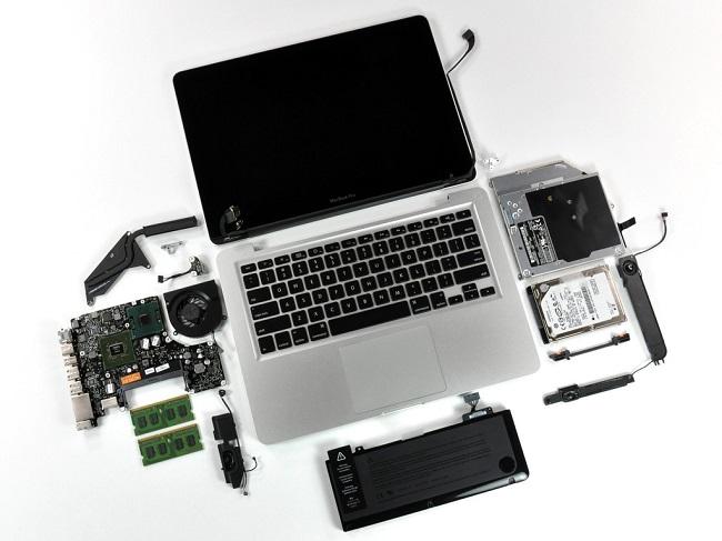 Разобранный ноутбук