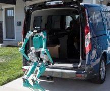 Робот и автомобиль