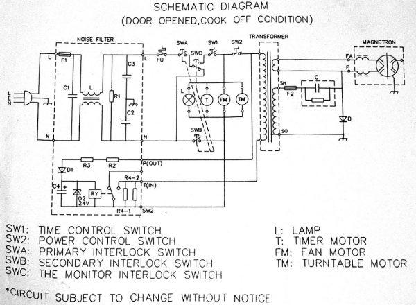 Электрическая схема СВЧ