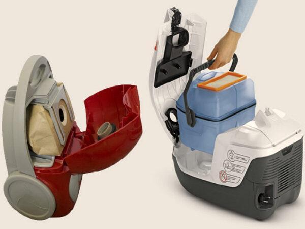 пылесос с мешком или контейнером для пыли