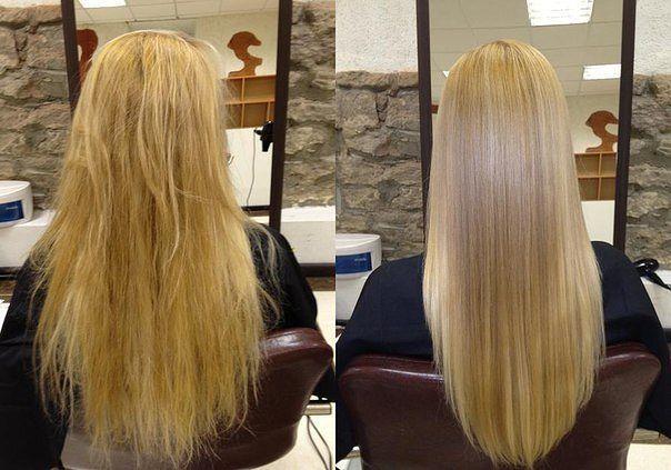 Утюжок для волос до и после фото