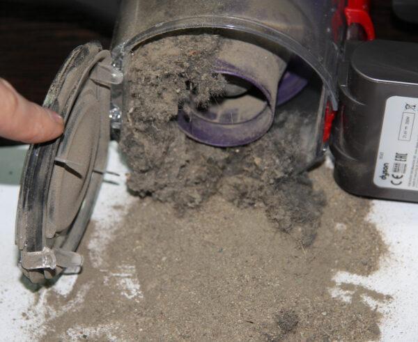 Контейнер для пыли переполнен
