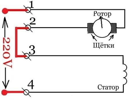 Электросхема коллекторного двигателя