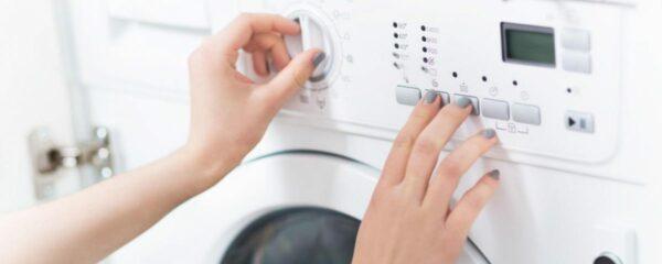 выбор режима на стиральной машине