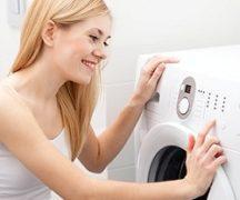 Девушка и стиральная машинка