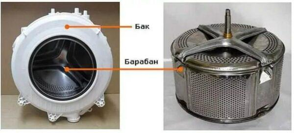 бак и барабан стиральной машины