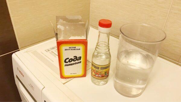 чистка машинки содой и уксусом