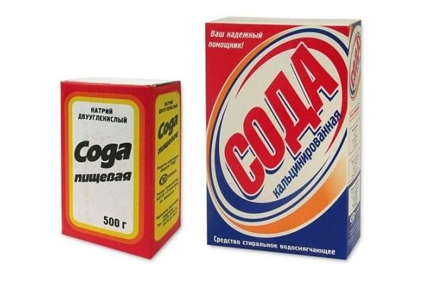 пищевая и кальцинированная сода