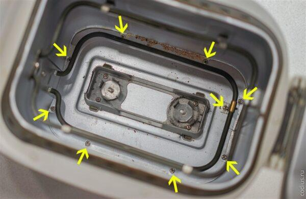 Винты внутри камеры
