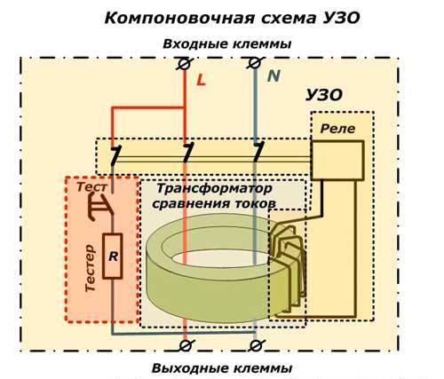 Схема УЗО