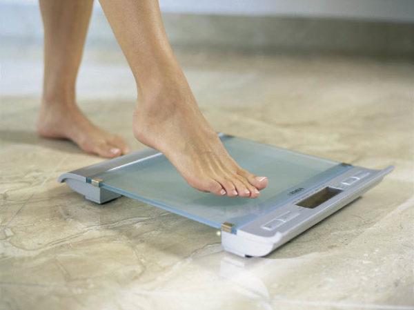 Включение весов касанием